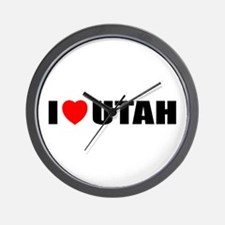 I Love Utah Wall Clock