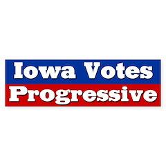 Iowa Progressive Bumper Bumper Sticker