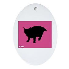 Pixie-Bob iPet Oval Ornament
