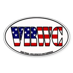 Vast Right Wing Conspiracy Oval Decal