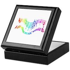 Without Music Life Would Be Flat Keepsake Box