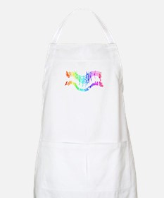 Without Music Life would be flat Humor Quote Apron