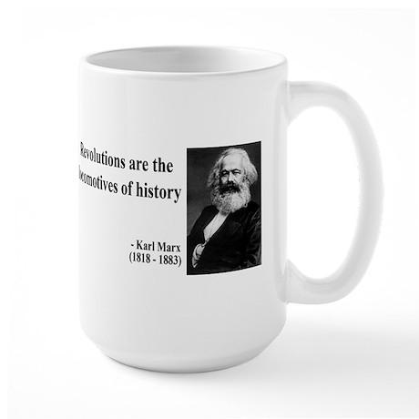 Karl Marx Quote 7 Large Mug