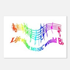 Without Music Life would be flat Humor Quote Postc