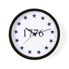 1776 & 13 Colony Stars Wall Clock