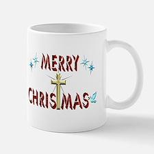 Merry Christmas with Cross Mug