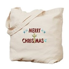 Merry Christmas with Cross Tote Bag