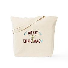 Merry Christmas with Cross Tote Bag