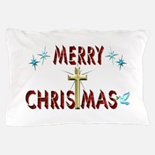 Merry Christmas with Cross Pillow Case