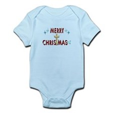 Merry Christmas with Cross Infant Bodysuit