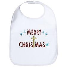Merry Christmas with Cross Bib
