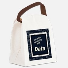 I'd rather be playing with Data Canvas Lunch Bag