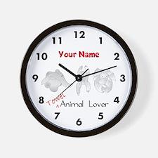 Towel Animal Lover Wall Clock