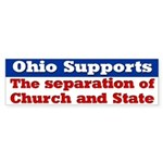Church and State Ohio Bumper Sticker
