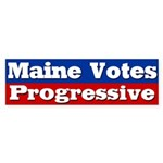 Maine Votes Progressive Bumper Sticker