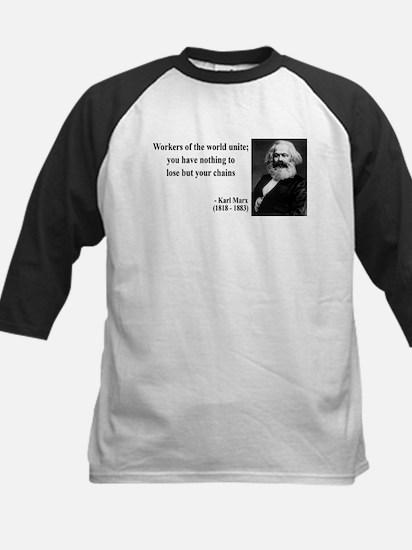 Karl Marx Quote 8 Kids Baseball Jersey
