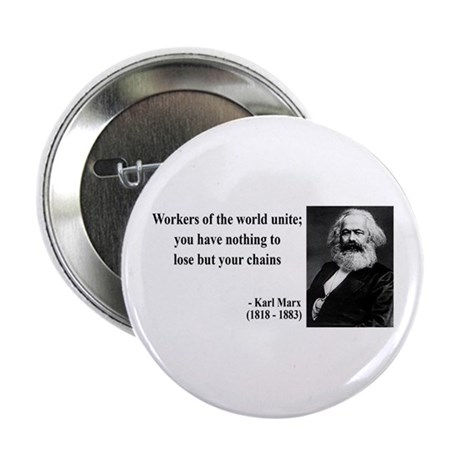 Karl Marx Quote 8 Button