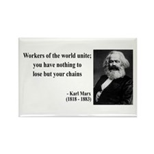 Karl Marx Quote 8 Rectangle Magnet (100 pack)