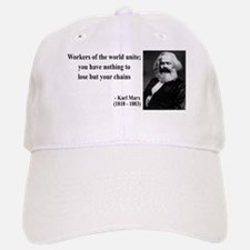Karl Marx Quote 8 Baseball Baseball Cap