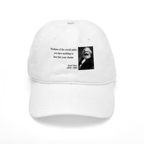 Karl Marx Quote 8 Cap