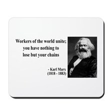 Karl Marx Quote 8 Mousepad