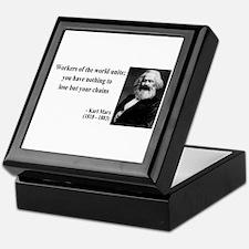 Karl Marx Quote 8 Keepsake Box