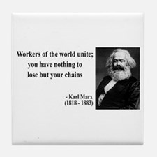 Karl Marx Quote 8 Tile Coaster