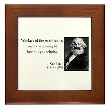 Karl Marx Quote 8 Framed Tile