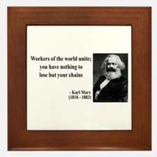 Karl Marx Quote 8 Framed Tile