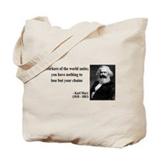 Karl Marx Quote 8 Tote Bag