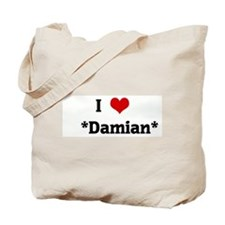 I Love    *Damian* Tote Bag