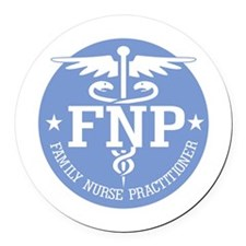 Family Nurse Practitioner Round Car Magnet