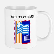 Custom Greece Flag Mugs