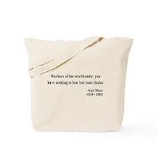 Karl Marx Text 8 Tote Bag