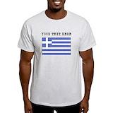 Custom greece flag Light T-Shirt
