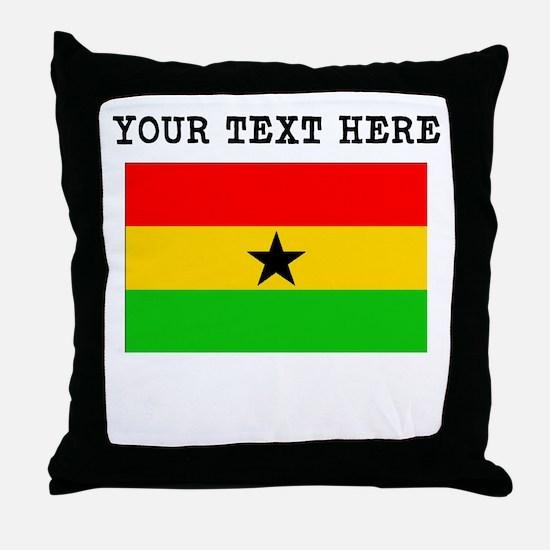 Custom Ghana Flag Throw Pillow
