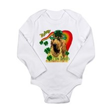 Cute Bloodhound dog Long Sleeve Infant Bodysuit