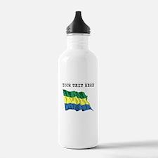 Custom Gabon Flag Water Bottle