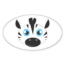 Cute Zebra Head Cartoon Decal