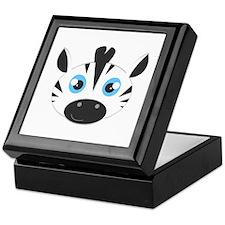 Cute Zebra Head Cartoon Keepsake Box