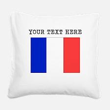 Custom France Flag Square Canvas Pillow