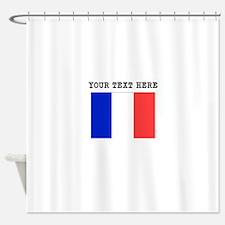 Custom France Flag Shower Curtain