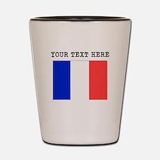 Custom France Flag Shot Glass