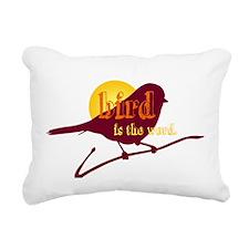 Bird is the Word Rectangular Canvas Pillow