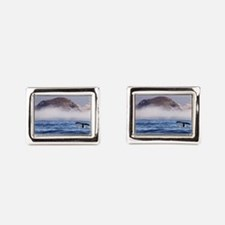 Humpback Whale Morro Bay Rock Rectangular Cufflink