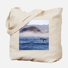 Humpback Whale Morro Bay Rock Tote Bag