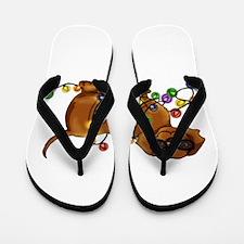 Shiny Dog Flip Flops