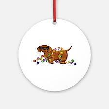 Shiny Dog Ornament (Round)