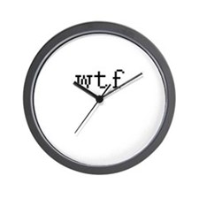 WTF - What the fuck Wall Clock