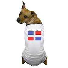 Custom Dominican Republic Flag Dog T-Shirt